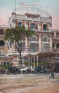 The Front Facade and Entrance of the Grand-Continental Savoy Hotel on Opera Square c.1908, Cairo