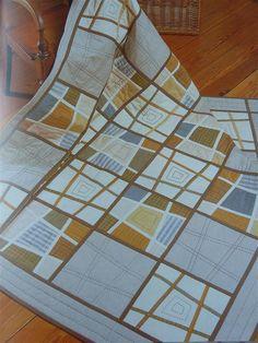 Like the neutrals. Stack 9 fabrics & cut.