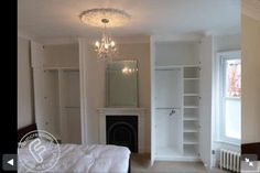 Master bedroom - wardrobes absolutely love this except our alcove is bigger on the right... That'd be my wardrobe obviously!!!