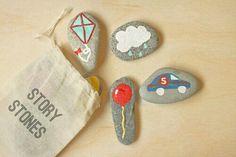 Crea cuentos con dibujos en piedras