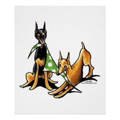 Miniature Pinscher n Apples Posters   Click on photo to purchase. Check out all current coupon offers and save! http://www.zazzle.com/coupons?rf=238785193994622463&tc=pin