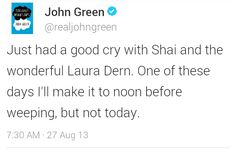 John Green on set filming The Fault in Our Stars