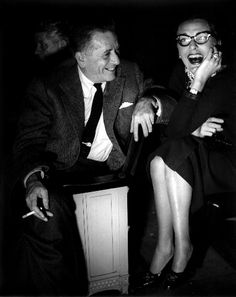 Director Leland Hayward and Slim Keith - he just adores her!  You can just tell.