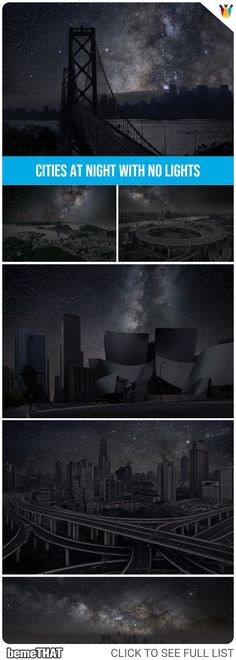 What Major World Cities Look Like at Night Without Lights? #nature #photography #art #stars #nightsky #bemethat