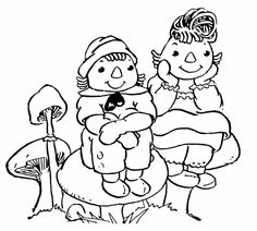 Raggedy Ann Coloring Pages raggedy andy colouring pages