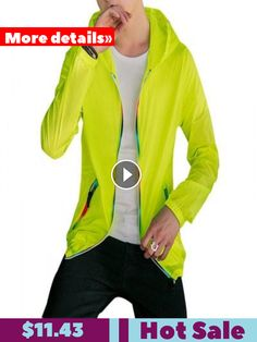 Amoi Thin Section Hooded Sun Protection Clothes Slim Jacket Coat Couple  Skin Jackets Outdoor  11.43   79e7b56a27