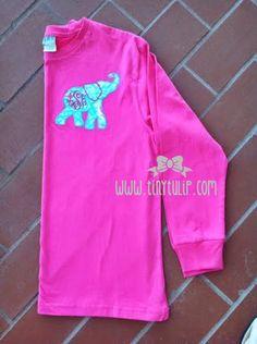 tinytulip.com - Monogrammed Lilly Pulitzer Elephant Applique Tshirt , $28.50 (http://www.tinytulip.com/monogrammed-lilly-pulitzer-elephant-applique-tshirt)