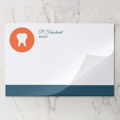 Dentist Logo Icon Paper Pad - stylish gifts unique cool diy customize