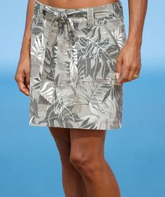 Rainforest - Light Camo Printed A-Line Skirt