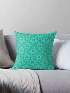 """Mint Leaf #1"" Throw Pillow by Kettukas 