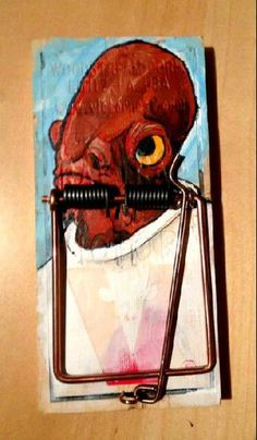 It's a trap! A mousetrap. (I don't like kill traps but this is funny - if you're a star wars fan that is)