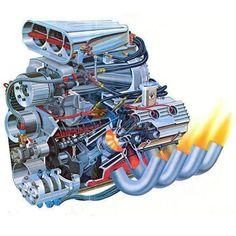 Typical mid to late Top Fuel drag racing Chrysler Hemi. Mopar, Cj Jeep, Hemi Engine, Performance Engines, Race Engines, Garage Art, Automotive Art, Drag Cars, Car Humor