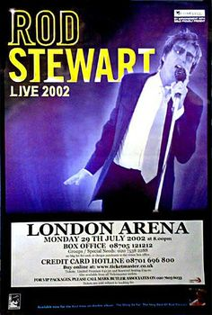 Rod Stewart - Live London Arena - Giant Original Promo Poster