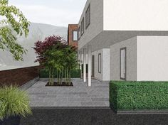 """Frodig Hagedesign on Instagram: """"One of our SketchUp models pimped up in Photoshop for a garden magazine article on screening and privacy.  #gardendesign #gardeninspiration…"""" Sketchup Models, Magazine Articles, Garden Inspiration, Garden Design, Photoshop, Instagram, Backyard Landscape Design, Garden Planning, Yard Design"""