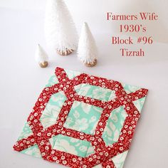 Farmers' Wife 1930's quilt block