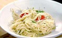 Capellini with tomatoes and basil Recipe by Ina Garten