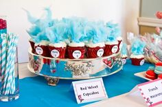 40 Popular Childrens Book Birthday Parties...  Dr. Seuss's The Cat in the Hat Birthday Party