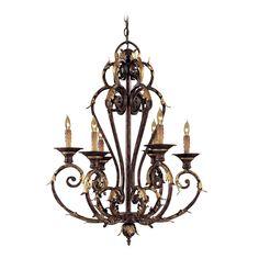 Chandelier in Golden Bronze Finish | N6235-355 | Destination Lighting