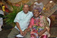 Con mi esposo Luis Teofilo Caldas, en el Petronio 2014