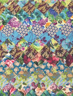 """Jane Brocket's """"The Gentle Art of Quilt-Making - easy to make but quite stunning quilts. Big Block Quilts, Scrappy Quilts, Easy Quilts, Quilt Blocks, Quilting Projects, Quilting Designs, Postage Stamp Quilt, Fabric Art, Floral Fabric"""