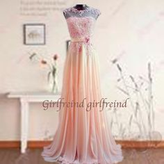 Sweetheart lace chiffon prom dress / evening dress