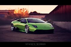 bagged Lamborghini. Imported from japan to California