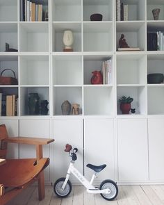 Home office bookshelves ikea dining rooms 67 Ideas Ikea Billy Bookcase Hack, Ikea Shelves, Shelving, Ikea Eket, Ikea Dining Room, Home And Deco, Home Office Furniture, Ikea Hacks, Home Interior