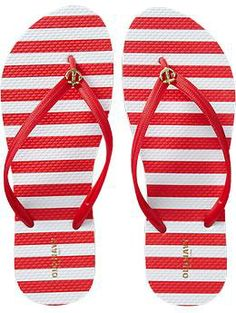 Anchor Flip Flops are the cutest little things for summer, these from Old Navy.