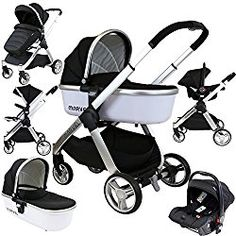 3 in 1 Baby Stroller Travel System With Bassinet Umbrella Stroller, Pram Stroller, Bassinet, Double Strollers, Baby Strollers, Strollers At Disney World, Convertible Stroller, Single Stroller, Prams And Pushchairs