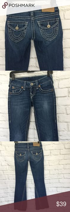a7204d770a43 TRUE RELIGION JOEY BIG T Size 24 flare twisted TRUE RELIGION JOEY NATURAL  BIG T Size 24 Flare Twisted Seam Big Stitch Jeans True Religion jeans Joey  Natural ...
