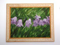 Original oils on large stretched canvas purple by ArtByKatieK, $675.00