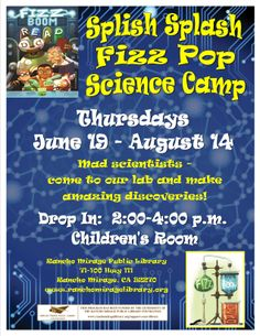 Thursday Splish Splash Fizz Pop Science Camp!