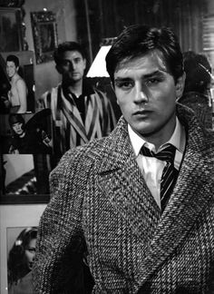 Alain Delon ~ Rocco and His Brothers, 1960 Saint Yves, Luchino Visconti, Poses Photo, Jean Luc Godard, French Movies, Actor Studio, Classic Movie Stars, The Girl Who, Vintage Beauty