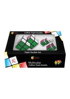 Family Games Inc Multi Cube Brain Teaser Puzzle - Triple Double Set - - Cube Games, Brain Teaser Puzzles, Challenging Puzzles, Cube Puzzle, Brain Teasers, Family Games, Cubes, Gifts, Play