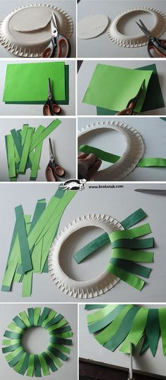 Make a beautiful Christmas wreath with the children on a cardboard plate! Preschool Christmas, Christmas Activities, Christmas Crafts For Kids, Christmas Projects, Holiday Crafts, Christmas Holidays, Christmas Wreaths, Christmas Gifts, Christmas Decorations
