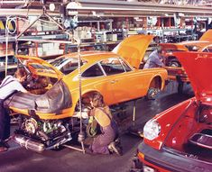 Have you visited an automotive assembly plant?  I have been to several, but sadly, we're in the age of robotics and just-in-time delivery for everything, and even when a line is running at full tilt there doesn't seem to be much going on. Not what you may expect from a factory, at least.