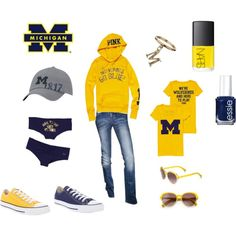 Go BLUE!!, created by byzrmylf on Polyvore