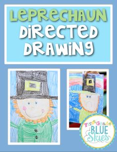 Leprechaun Directed Drawing {FREEBIE} and Video Tutorial - First Grade Blue Skies