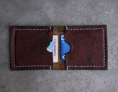 Handmade Leather Wallet by @TrestleLeather on Etsy, $30.00