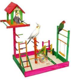 poleiro brinquedo parque para calopsita com casa 40x35x53 cm  R$  102,99 + 12,58 = 115,57.