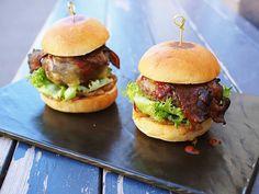 The Lucky Bastard, Itäkeskus Salmon Burgers, Hamburger, Ethnic Recipes, Food, Meals, Yemek, Hamburgers, Eten