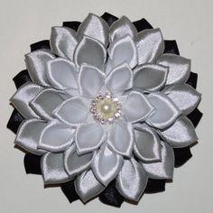Handmade Girl's Flower Hair Clip/Bow, School/Wedding/Christening/Party