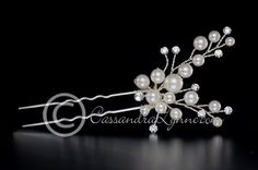 Pearl Cluster Wedding Hair Pin