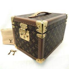 Rise on Louis Vuitton Monogram Boite Flacons Cosmetic Train Case Makeup Case