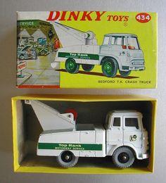 VINTAGE DINKY TOYS 434 BEDFORD T.K. CRASH TRUCK BOXED | eBay