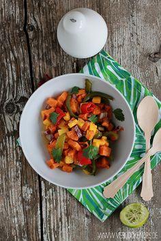 Verlockendes...: Exotischer Süßkartoffelsalat + meine neuen Küchenhelden