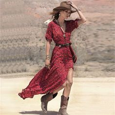 >>>Smart Deals forNew 2016 Summer Sexy Women Boho V neck Floral Print Split Long Maxi Dress Casual Ladies 3/4 Sleeve Tunic Beach Dresses Vestido-in Dresses from Women's Clothing