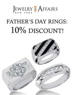 Jewelry Affairs Father's Day Rings: Get up to 10% discount on selected items. This offer is currently activated on the site. For more Jewelry Affairs Coupon Codes visit: http://www.couponcutcode.com/stores/jewelryaffairs/