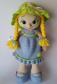 Crochet doll amigurumi doll crocheted doll toy by Hippehaakselss ♡