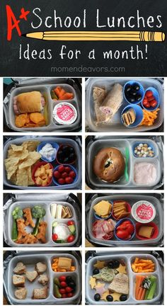 A month of kid-approved school lunches - easy creative ideas!